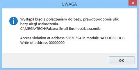 błąd konfiguracji systemu operacyjnego