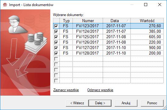 wybór dokumentów