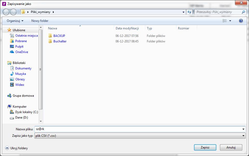 plik wynikowy exportu sh@rk